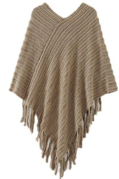 Fringed Beauty Poncho Irregular Top
