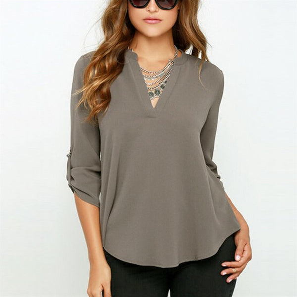 Let It Loose Cozy Chiffon Blouse