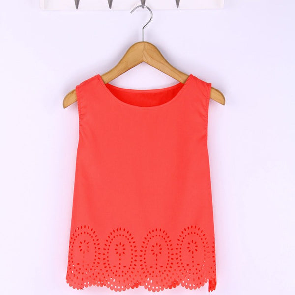 Bright Hues Hollow Out Smart Cropped Top