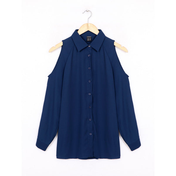 Elegantly Yours Hollow Out Sleeve Loose Top