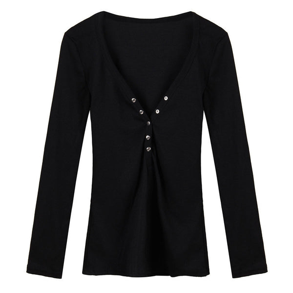 Love Me Tonight Sexy Deep V-neck Blouse