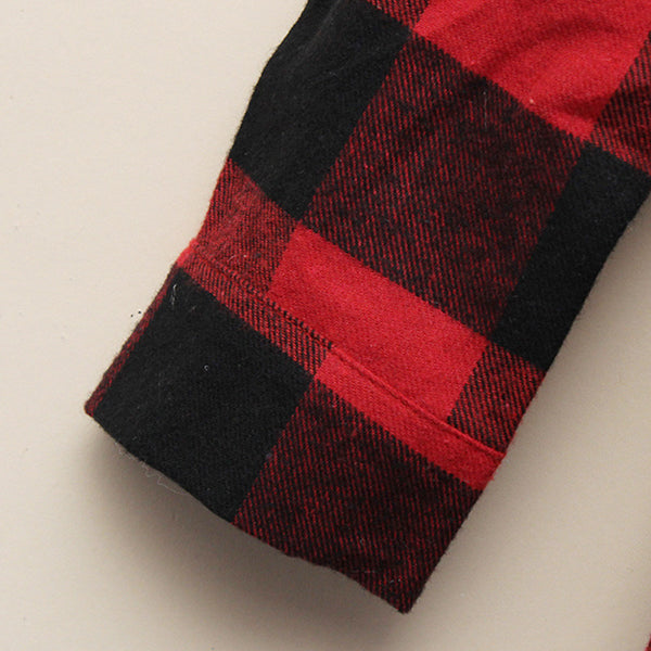 Classic Black & Red Checkered Shirt