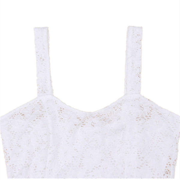 Born Stylish Bodycon Lace Floral Tank Top