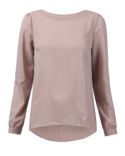 Casual Chiffon Top with Pleated Back