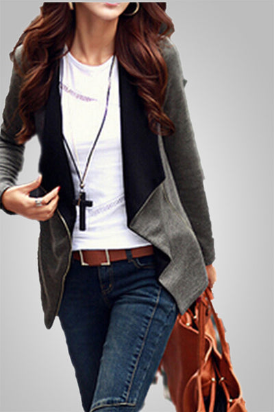 Simply stylish Autumn Zipper Coat