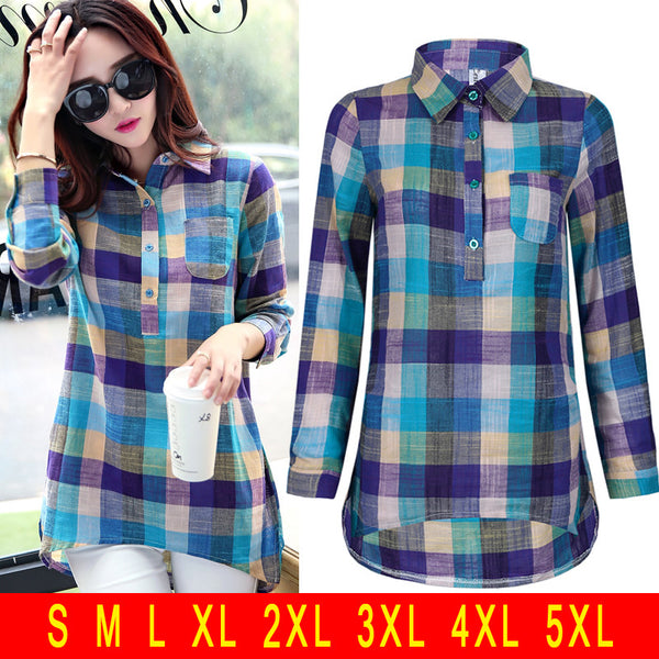 Linen Love Fashionable Plaided Shirt