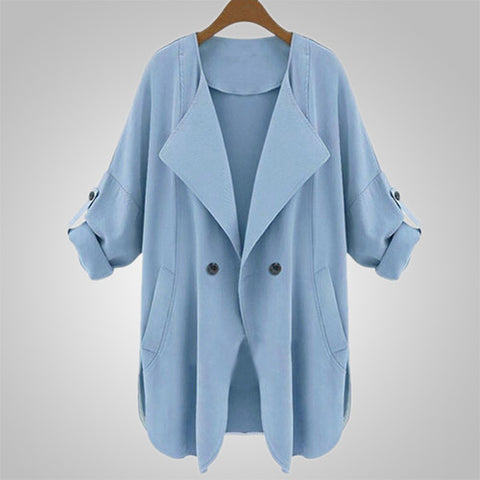 Autumn Long Sleeve Loose Casual Coat