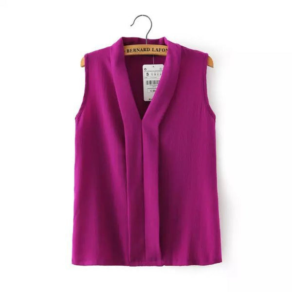 Glam Up Cute Sleeveless Slim Tops