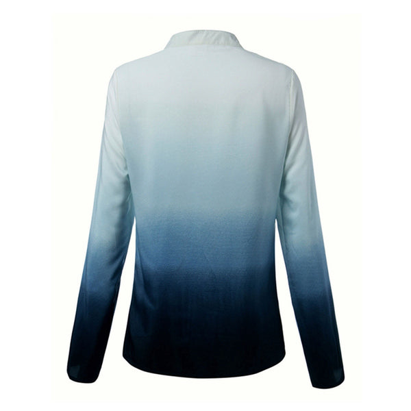 In Love With Waves Gradient Long Sleeve Top