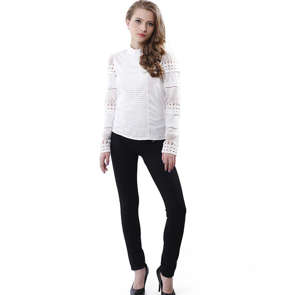 Fashionable Cut Out Long Sleeve Blouse