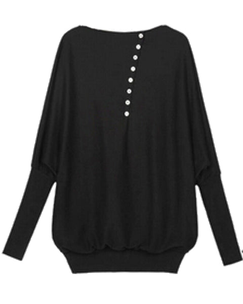 Long Batwing Sleeve Loose Top