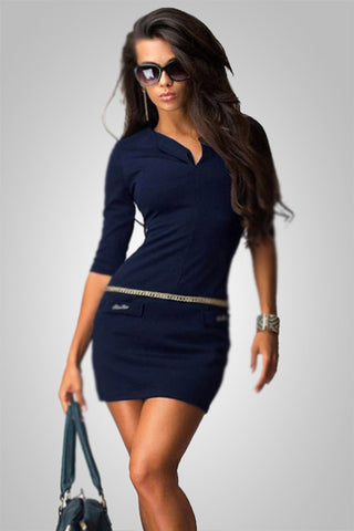 All Seductive Bodycon Office Mini Dress
