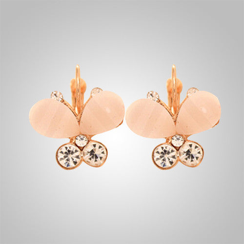 Elegany Butterfly Rhinestone Earrings