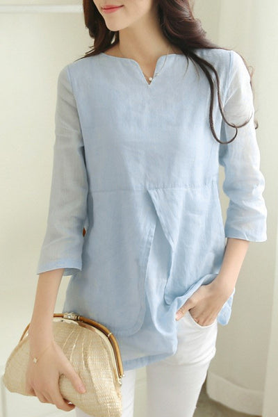 Double Layers Feminine Casual Shirt