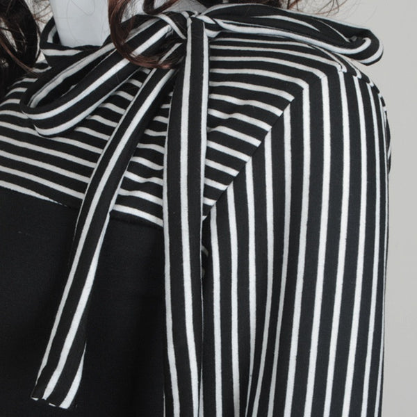 Tie It Up Long Sleeve Stripe Top