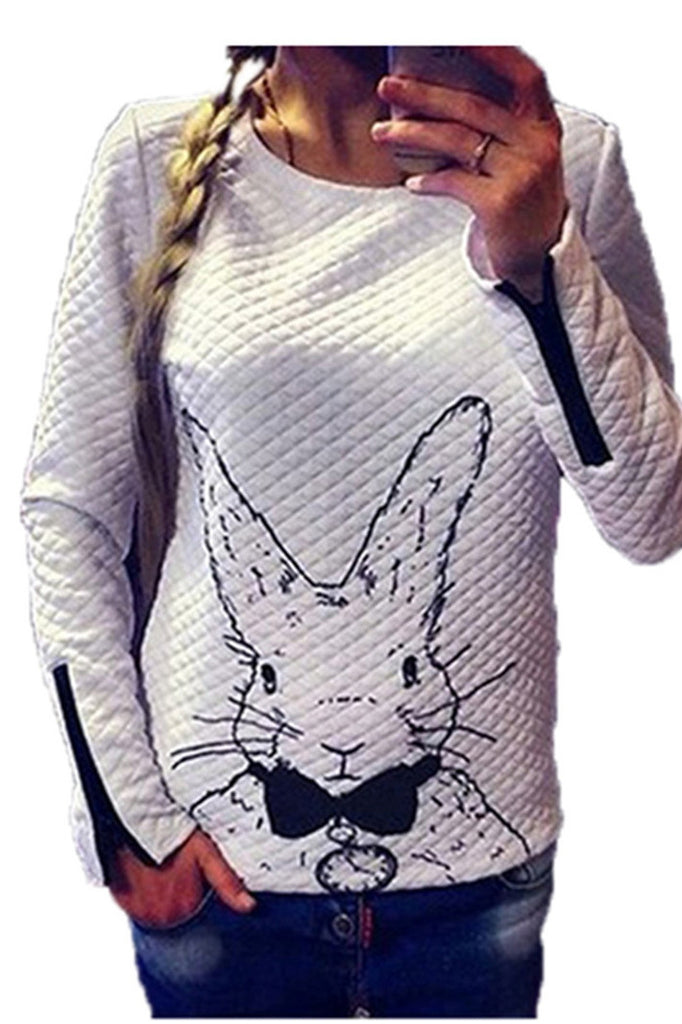 White Rabbit Full-sleeves Top with Zipper