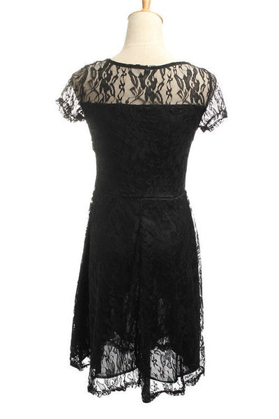 Fit & Flare Short Lace Dress