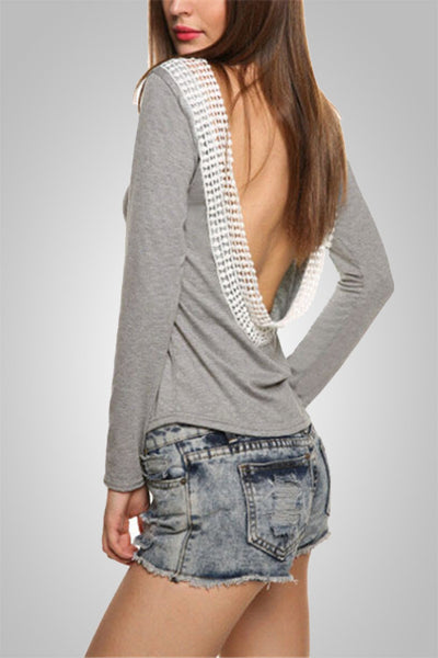 Turn Around Backless Full Sleeve Top