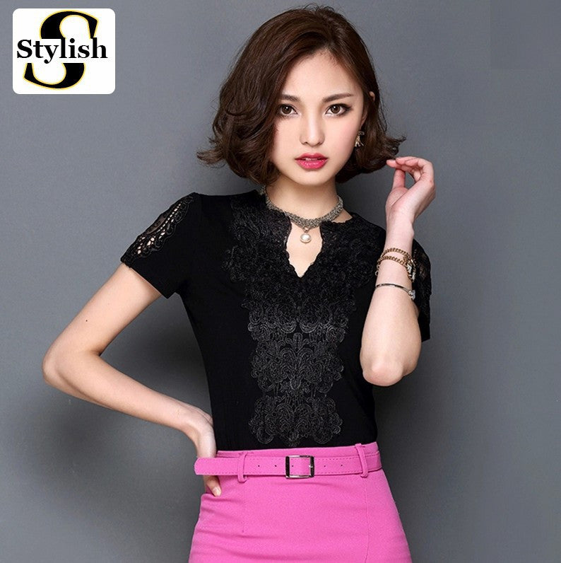 Shy Away Lace Fancy Top