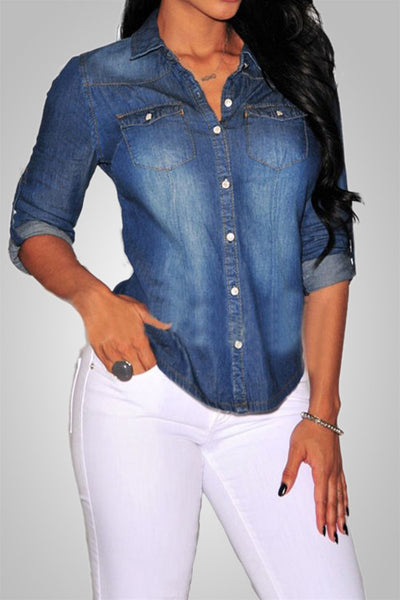 Casual Dayout Denim Shirt