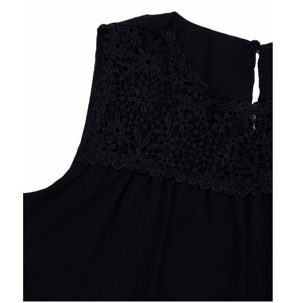 Vivid Days Sleeveless Lace Crochet Top