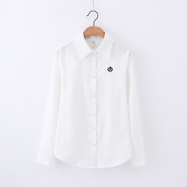 All Alone Swan Embroidery Shirt