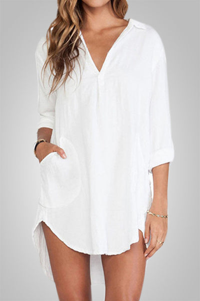 Going With The Waves Loose Long Sleeve Casual Top