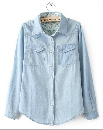 Sexy All Day Long Denim Shirt