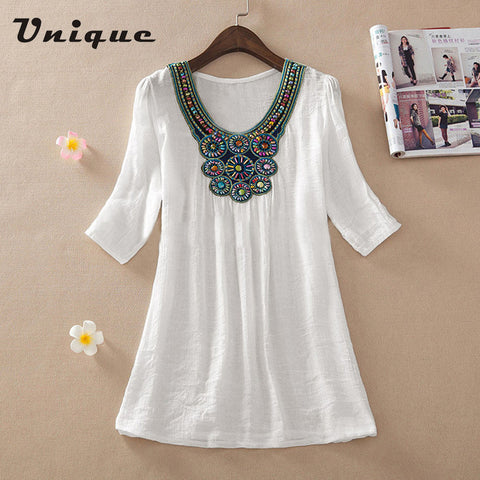 Beaded With Joy Super Trendy Embroidered Top