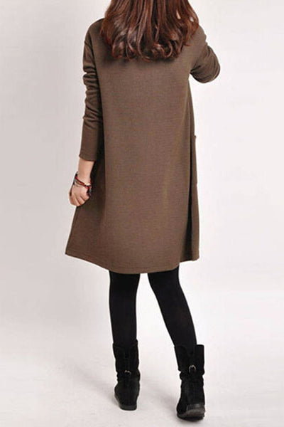 Autumn Love A-Line Adorable Dress