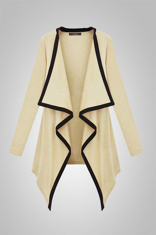 Irregular Hem Long Sleeve Coat