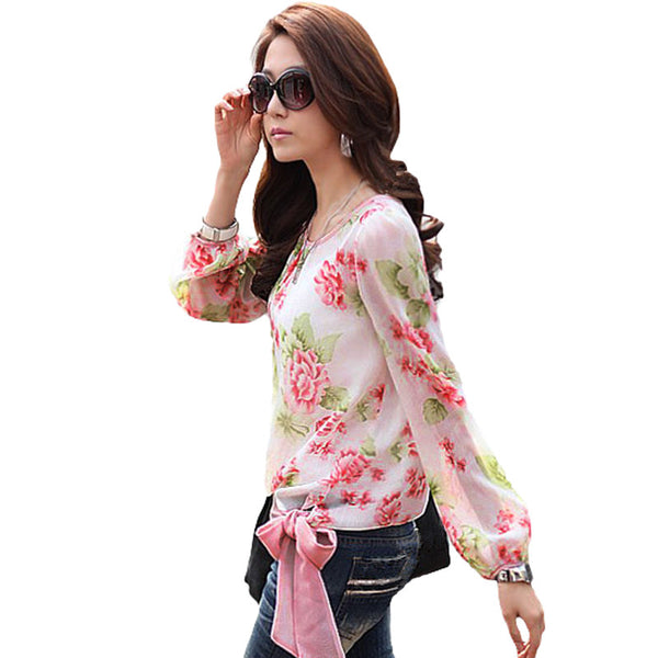 Longing for Flowers Trendy Top