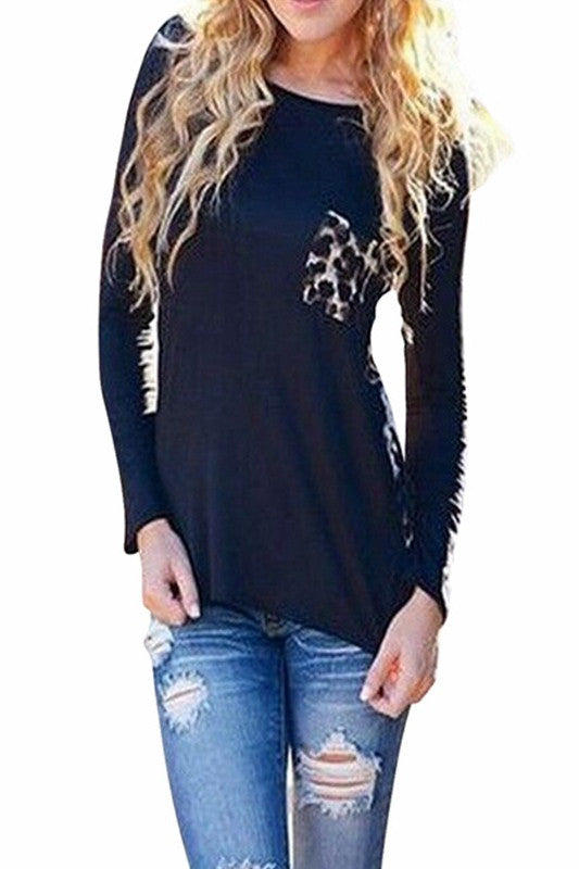 Bold Leopard Print Long Sleeve Top