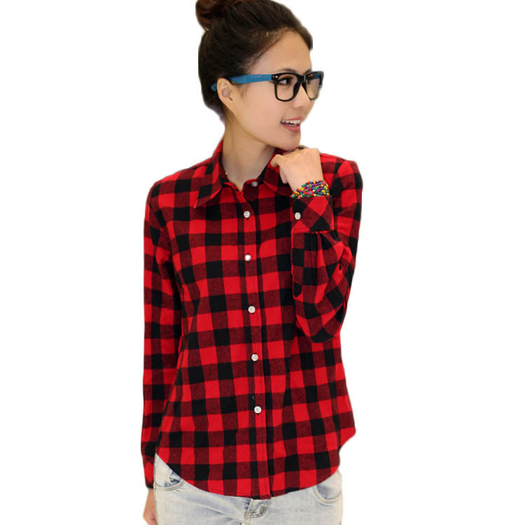 Waiting For you Chequered Plaid Shirt