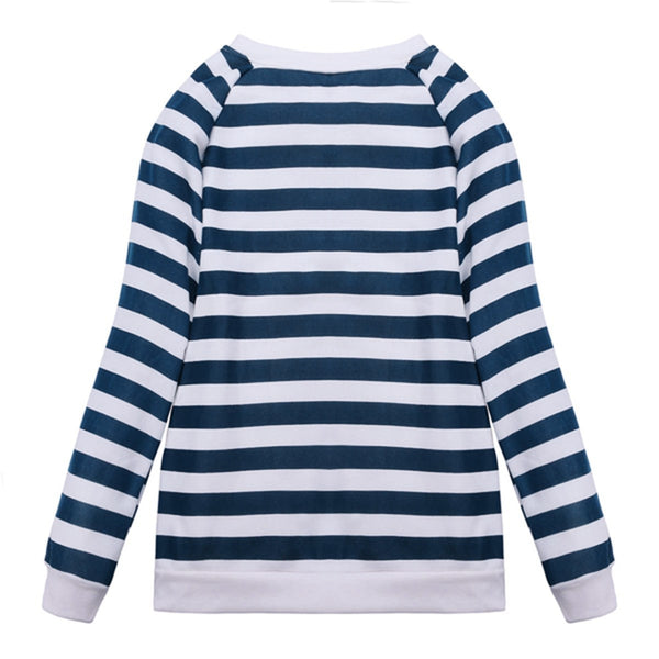 Hope Striped Long Sleeve Sweatshirt
