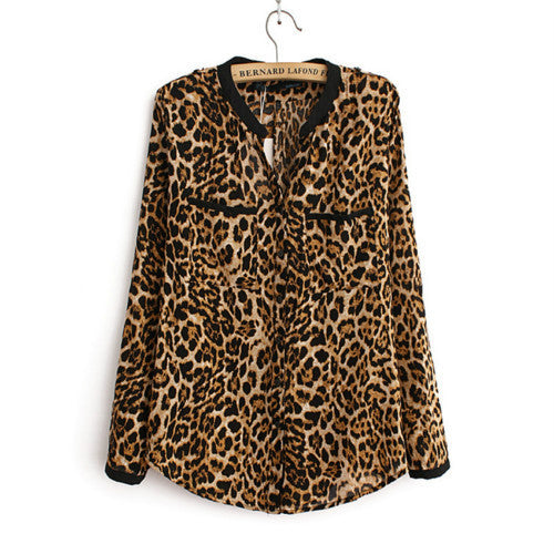 Leopard Love Printed Casual Shirt