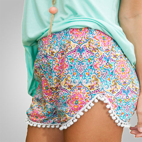 Casual Mini Printed Shorts
