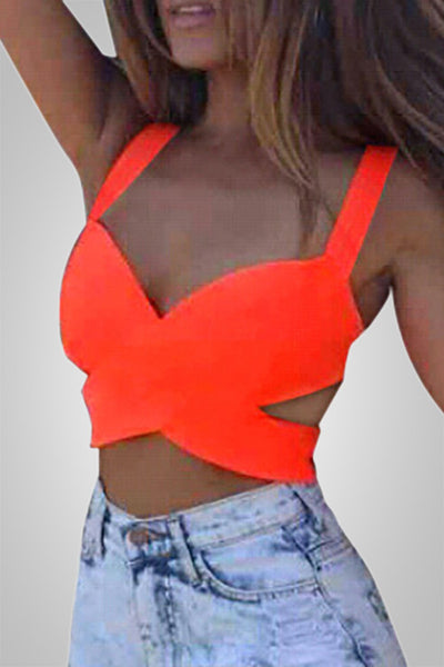 Sleeveless V-Neck Bright Tank Top