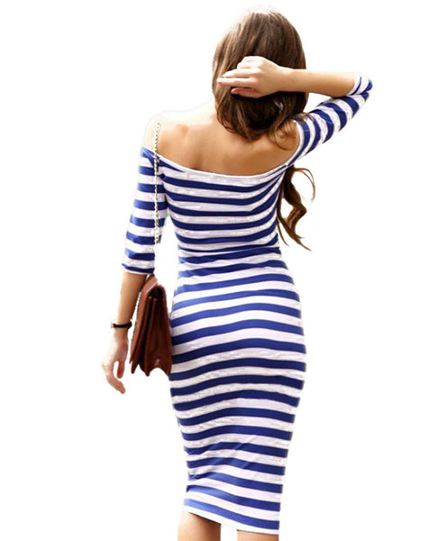 Evening Magic Off Shoulder Dress