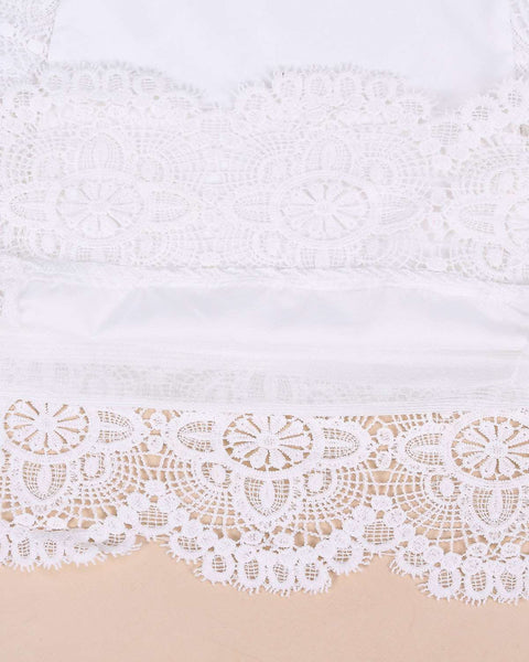 White Lace A-Line Mini Dress