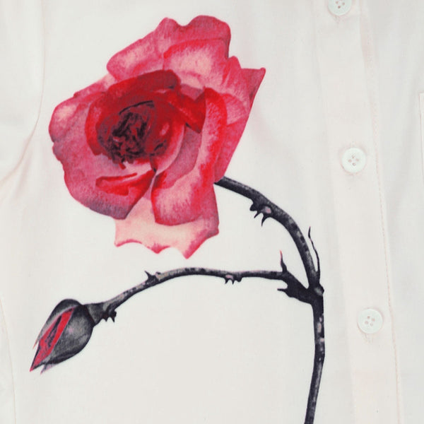 Snow White & Rose Red Floral Printed Shirt