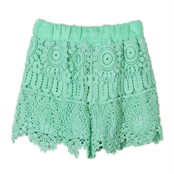 Short and Cute Lace Beach Shorts