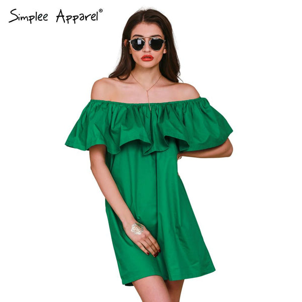 Style Diva Off Shoulder Smart Dress