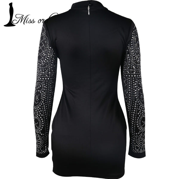 Go Retro High Neck Full Sleeve Dress