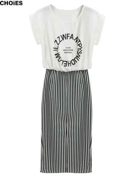 Cool Chic Letter Printed Casual Dress