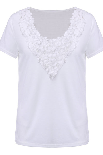 I'm Lacy Flowery Lace Collared Top