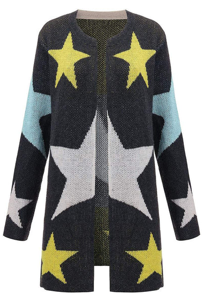 Star Night Long Knitted Cardigan