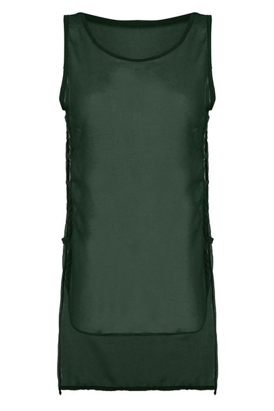 Sleeveless Chiffon Hollow Out Top