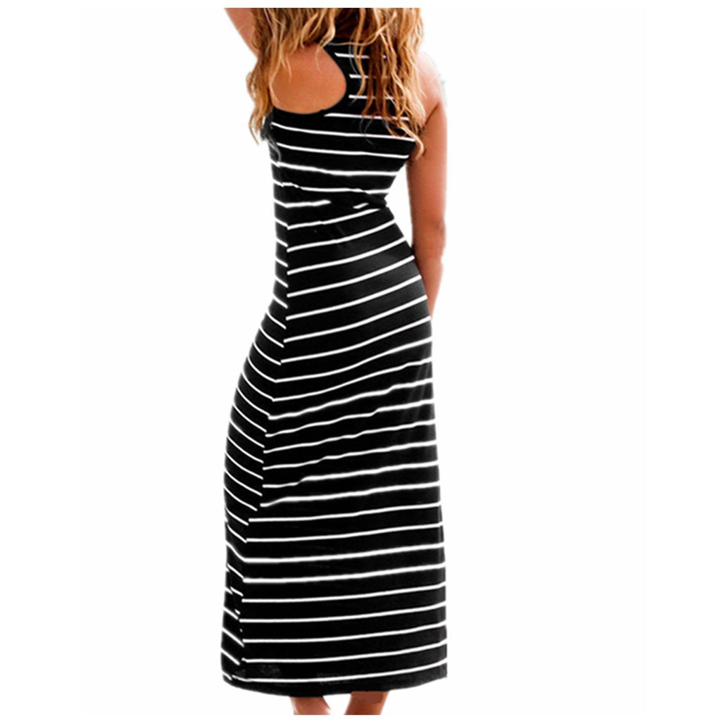 All Eyes On Me Striped Boho Dress