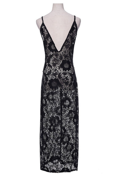 Black Beauty Long Lace Dress